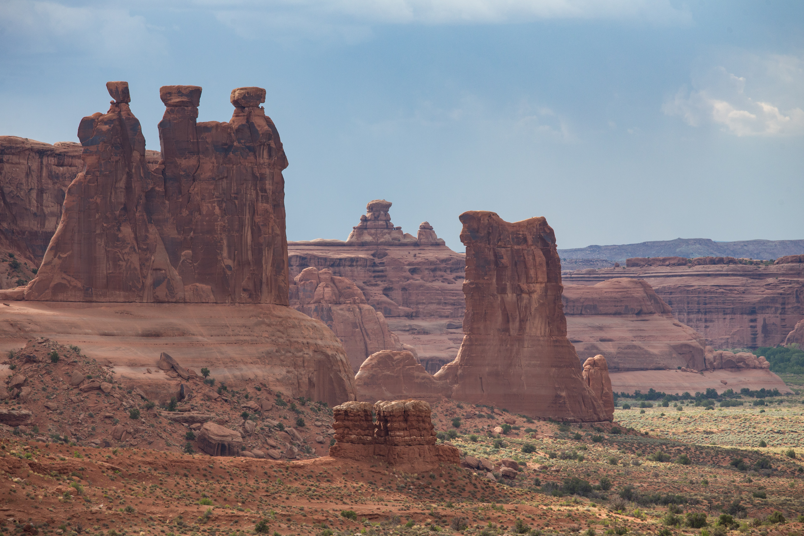 Arches National Park - The Three Gossips.